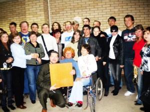 С инвалидами после презентации игры Го